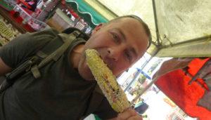 Crazy Corn $1 U.S. bought from a street food vendor in Juayua, El Salvador. Yum!