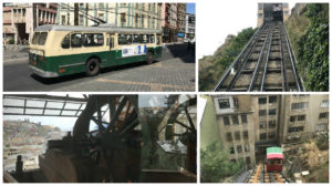 Valparaísos historic transit system consists of old cable buses, and Funiculars. (Elevators)
