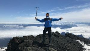Finally at the top of Villarrica Volcano.
