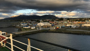 Sunset at Puerto Natales, when we finally got to disembark the ferry.