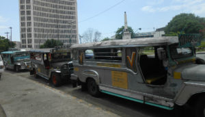 This is what a typical Jeepney looks like. They are very popular in The Philippines.