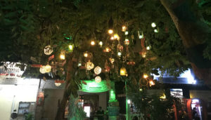 Although there are no street lights in Jeri, the vibrant restaraunt scene gives the everything a safe feeling.