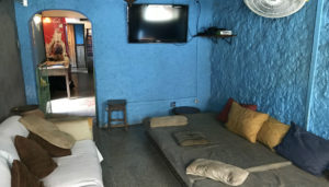 Some hostels have couches and chairs. Other hostels can be very creative with their common area. I like this common room at Galaria13 Hostel in Salvador, Brasil.