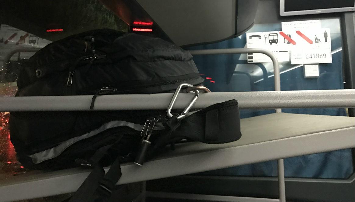 Bag security on bus crop