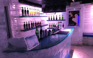 This bar is made entirely of glacier ice.