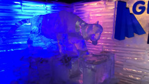 There were sculptures, and furniture made of ice in the bar.