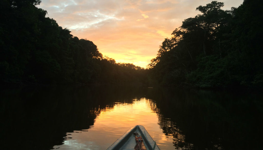 Cuyabeno National Park,lower part of the Aguarico River