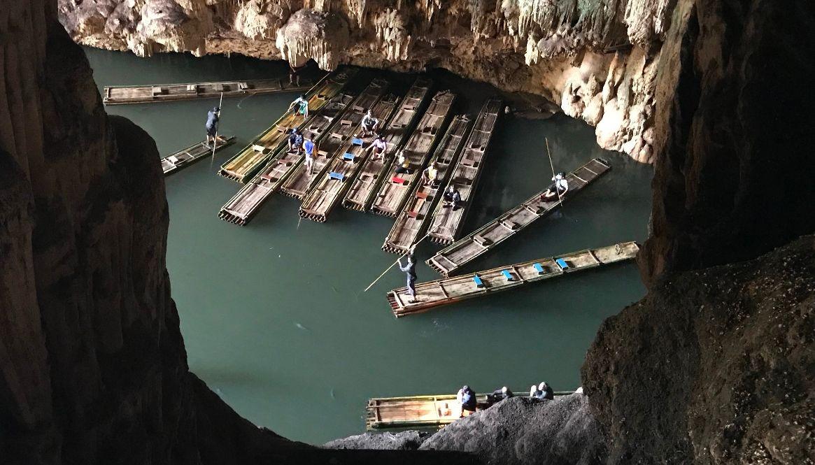 Bamboo Boats Lod Cave